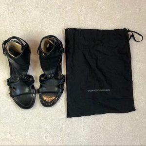 SIGERSON MORRISON Blk Lthr Gladiator Sandals